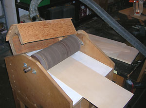 homemade thickness sander