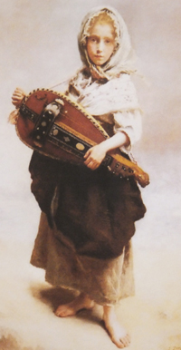 girl with hurdy gurdy