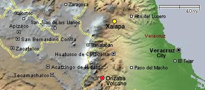 map of Xalapa, Jalapa